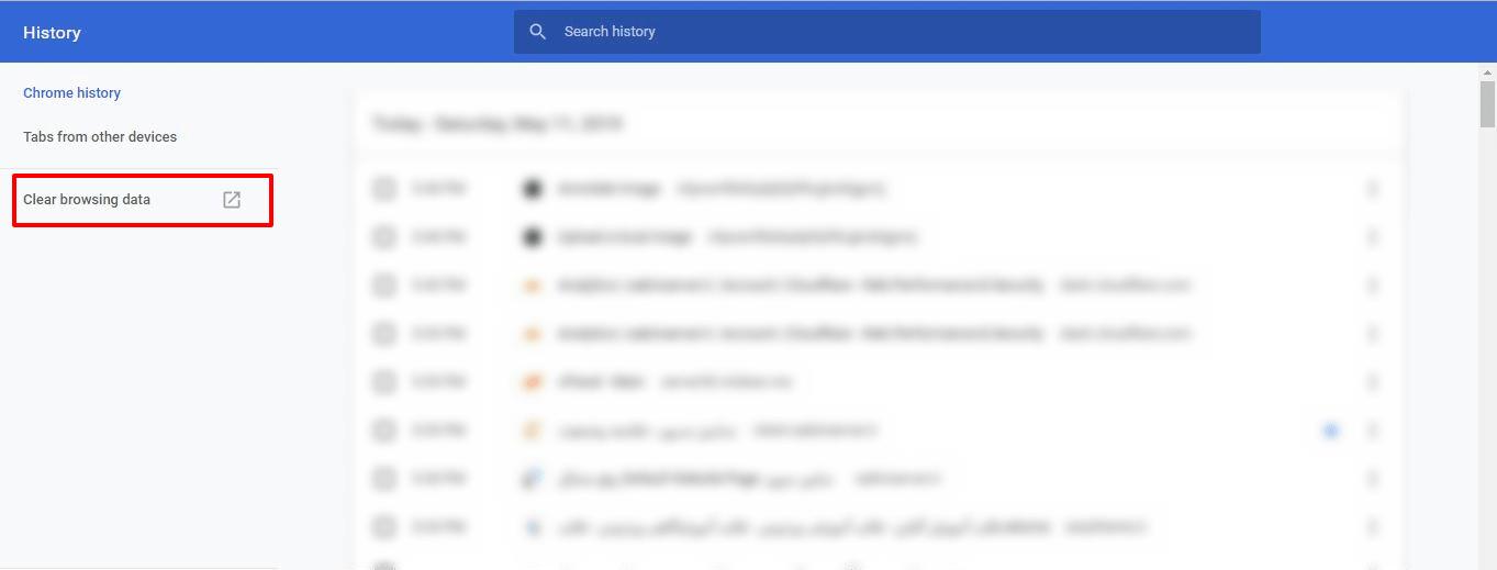 آموزش پاک کردن کش مرورگر گوگل کروم