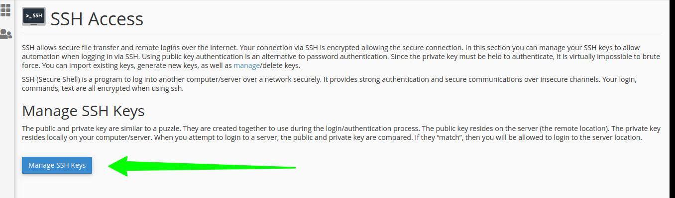 Manage-SSH-Keys-in-cpanel