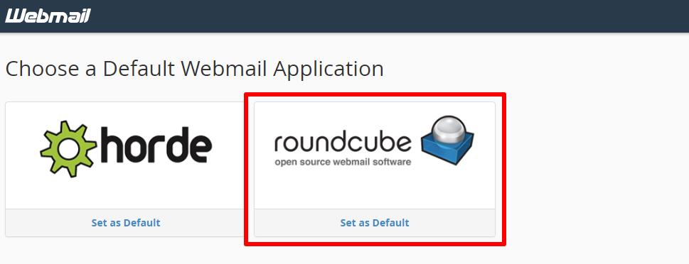 انتخاب roundcube برای وب میل