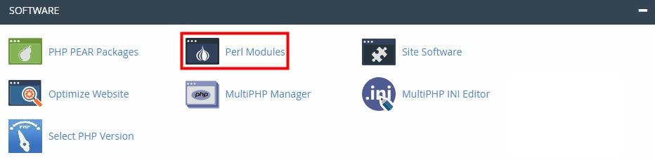 Perl Modules در سی پنل